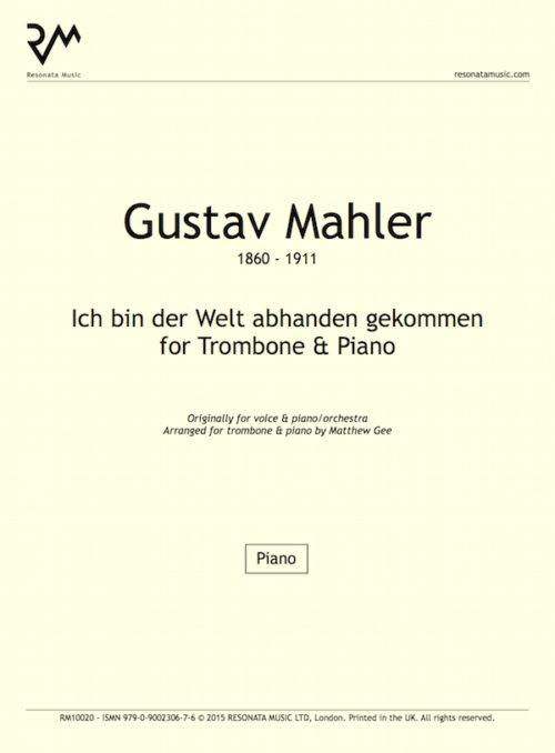 Mahler - Ich bin der Welt inner cover