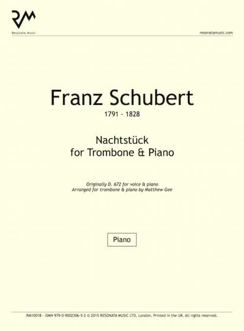 Schubert - Nachtstuck inner cover