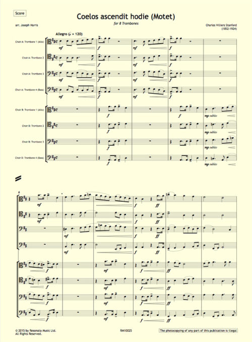 Stanford - Coelos Trombones first page