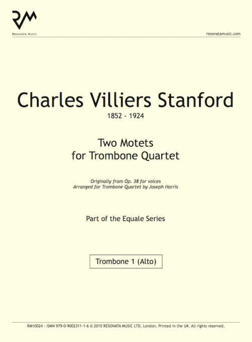 Stanford - Two Motets inner cover