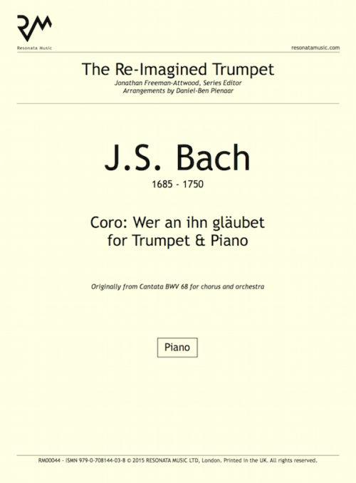 Bach - Wer an ihn inner cover