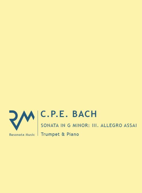 CPE Bach - Sonata cover