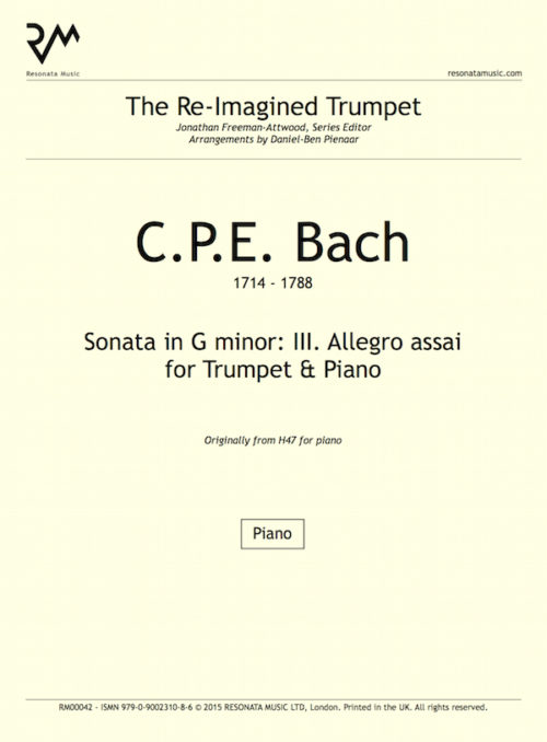 CPE Bach - Sonata inner cover