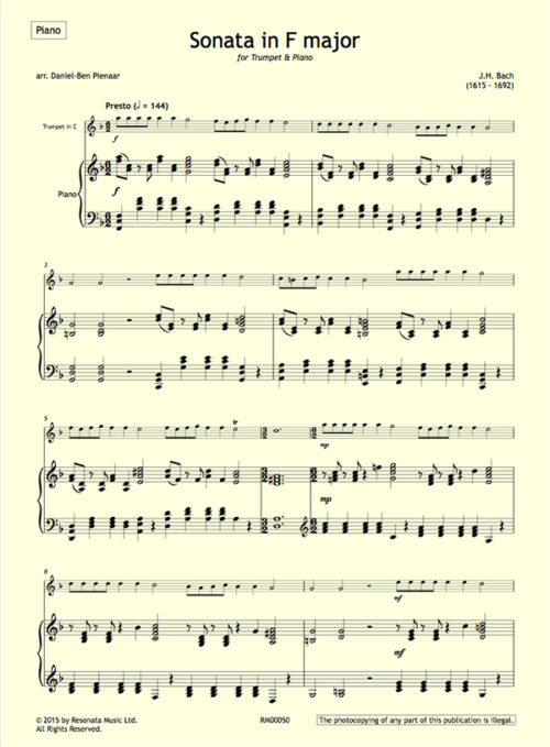 JH Bach - first page