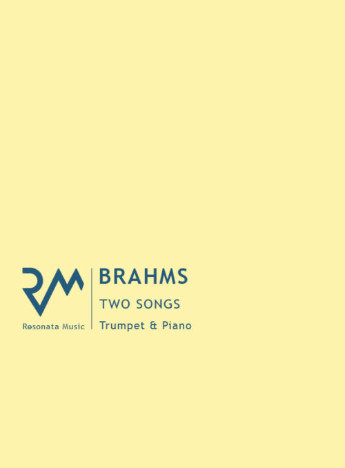 Brahms - Two Songs cover
