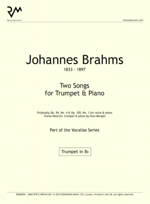 Brahms - Two Songs inner cover