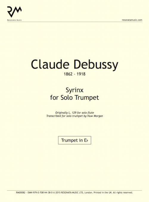 Debussy - Syrinx inner cover
