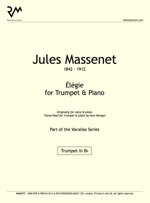 Massenet - Elegie inner cover