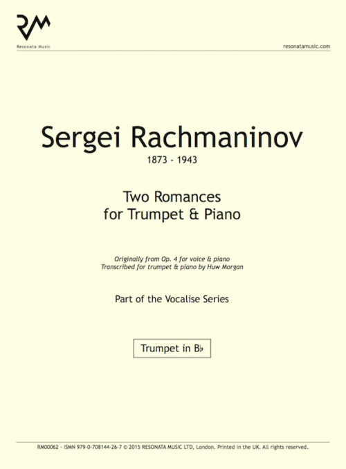 Rachmaninov - Two Romances inner cover
