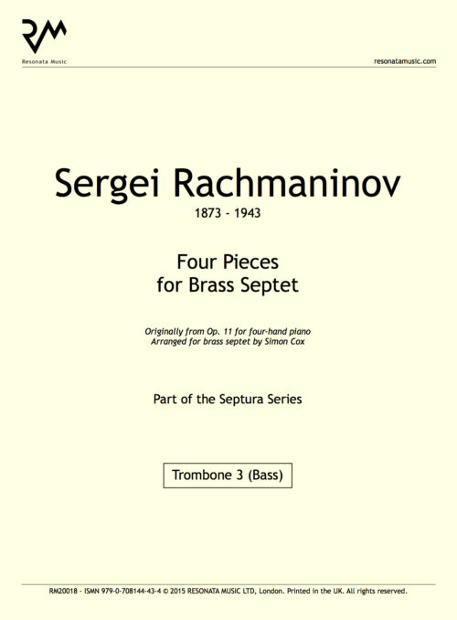 Rachmaninov - Four Pieces inner cover