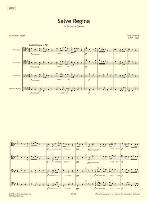 Schubert - Salve Regina first page
