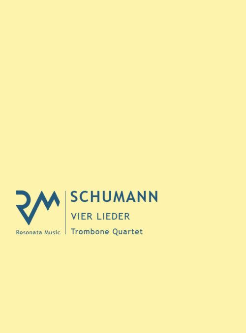 Schumann - Vier Lieder cover