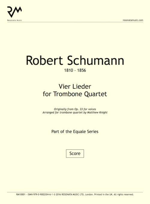 Schumann - Vier Lieder inner cover