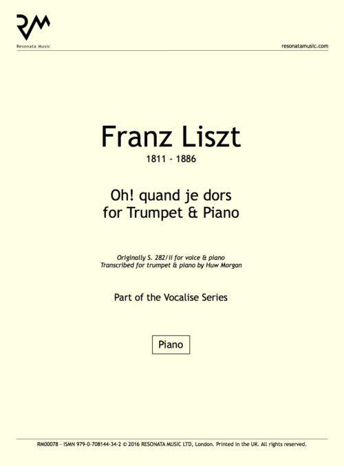 Liszt - Oh! quand je dors inner cover