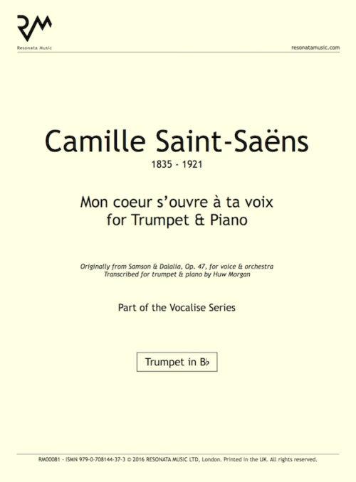 Saint-Saens - Mon coeur inner cover