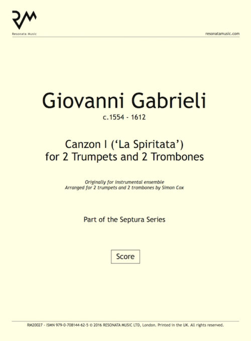 Gabrieli - Canzon I inner cover