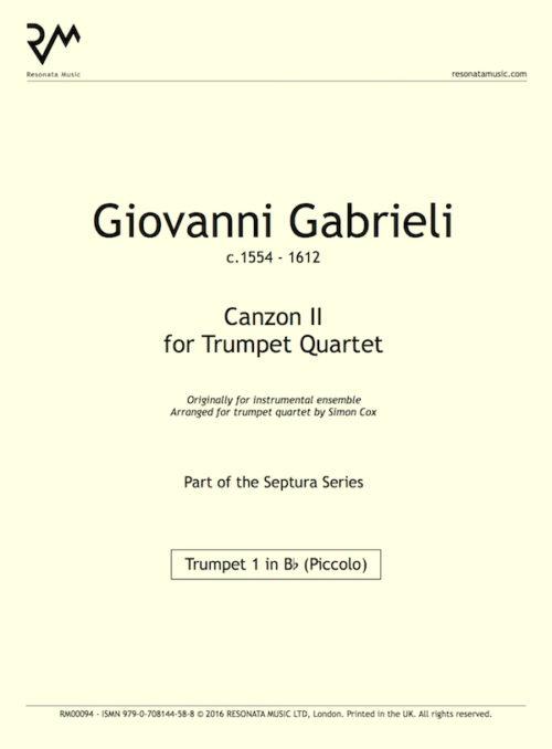 Gabrieli - Canzon II inner cover