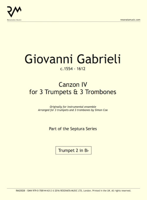 Gabrieli - Canzon IV inner cover