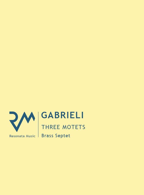 Gabrieli - Three Motets cover