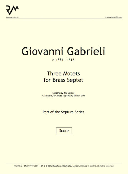 Gabrieli - Three Motets inner cover