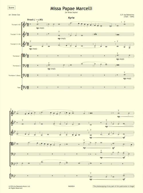 Palestrina - Missa first page