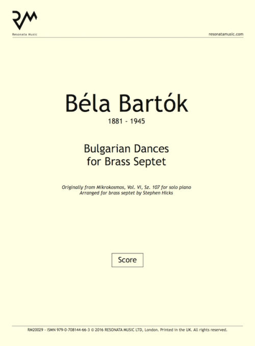 Bartok - Bulgarian Dances inner cover
