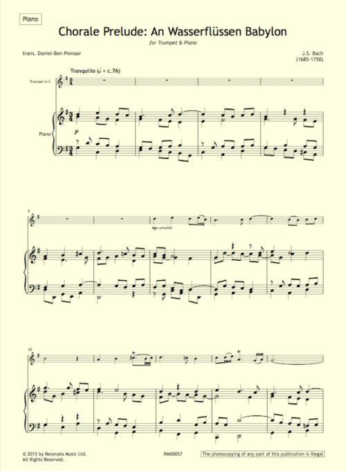 Bach - An Wasserflussen first page