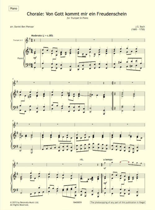 Bach - O Gott first page