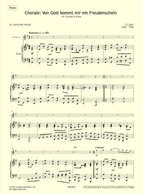Bach - O Gott first page