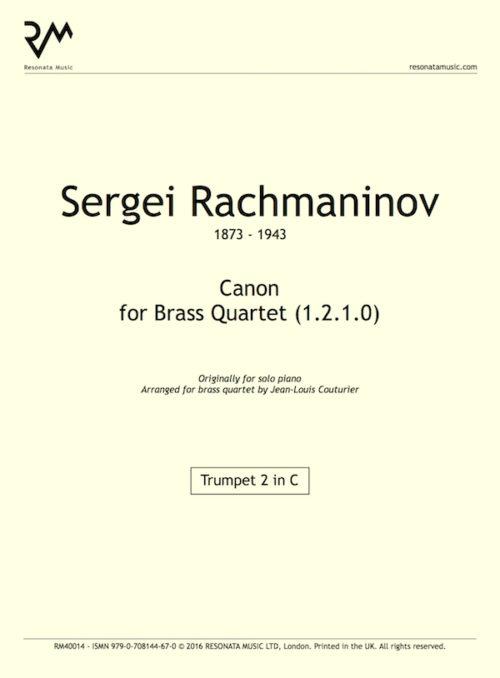 Rachmaninov - Canon inner cover
