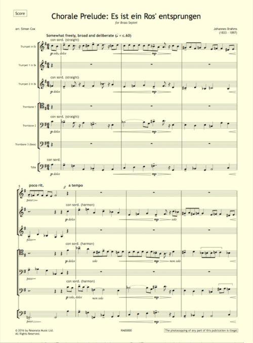Brahms - Es ist first page
