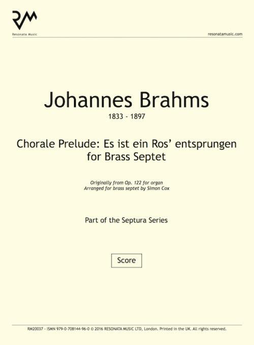Brahms - Es ist title page
