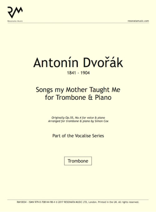 Dvorak - Songs my trom title page