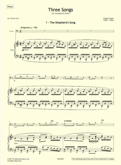 Elgar - Songs trom first page