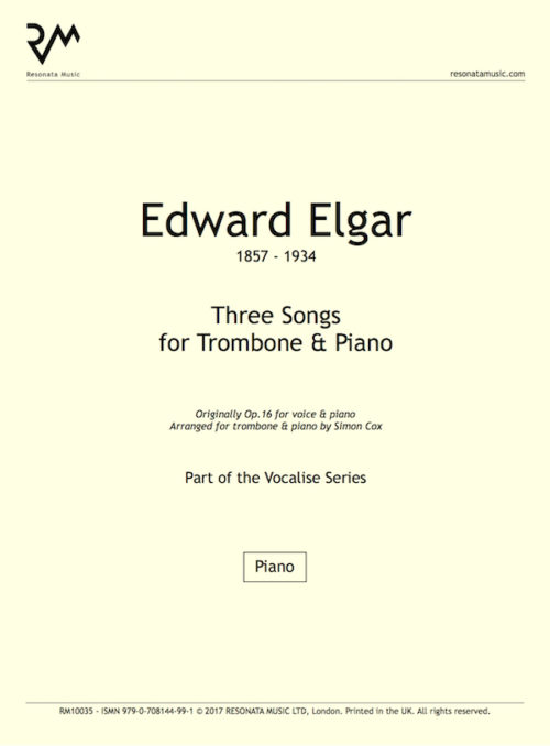 Elgar - Songs trom title page