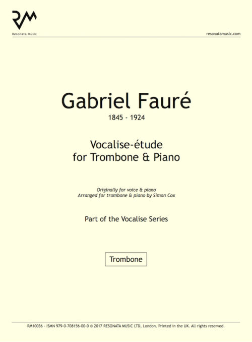 Faure - Vocalise trom title page