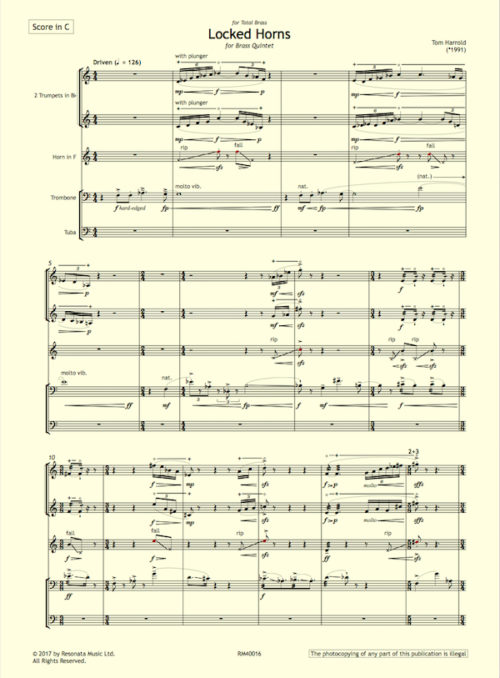 Harrold - Locked Horns first page