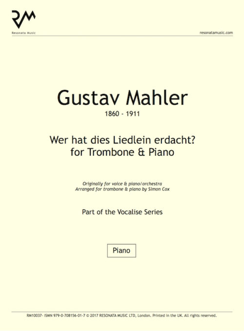 Mahler - Wer Hat trom title page