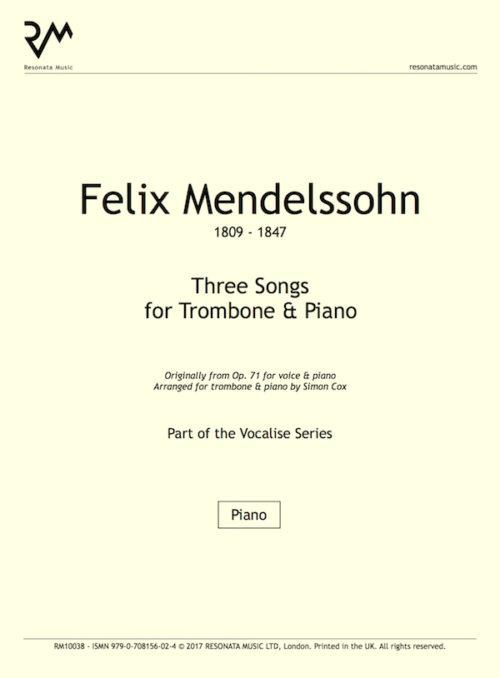 Mendelssohn - 3 Songs trom title page