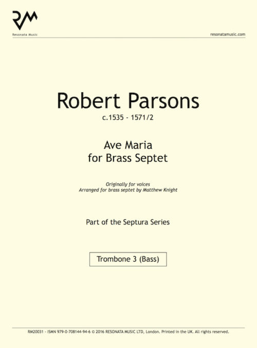 Parsons - Ave Maria title page