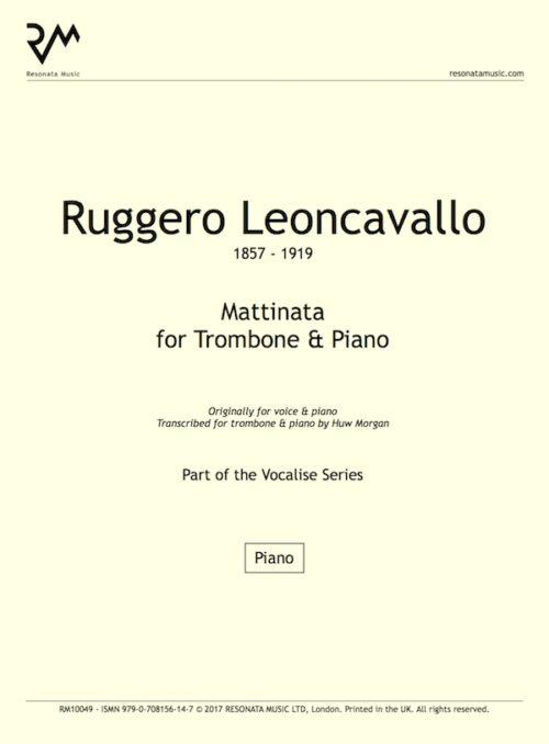 Leoncavallo - Matt trom inner cover