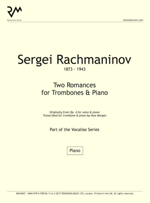 Rachmaninov - Songs Trom inner cover
