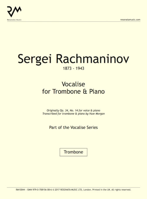 Rachmaninov - vocalise trom inner cover