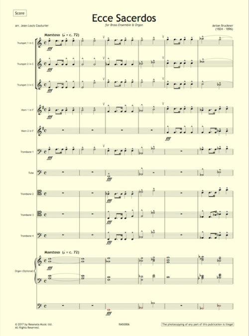Bruckner - Ecce first page