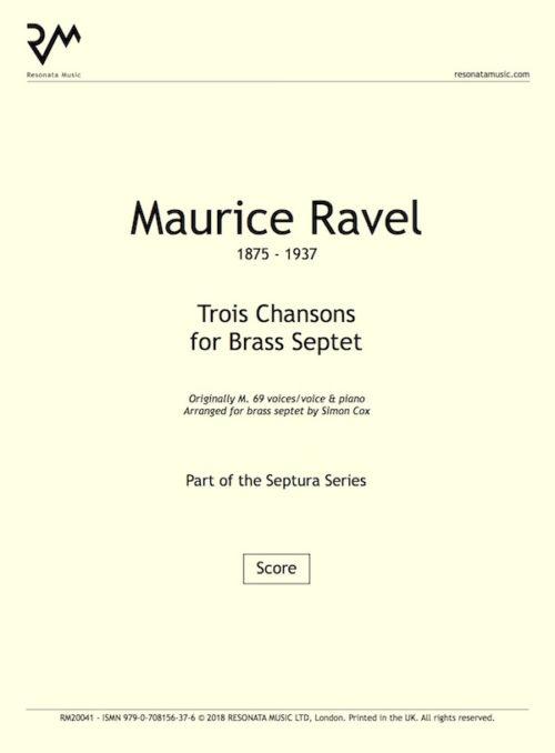 Ravel - Trois Chansons inner cover