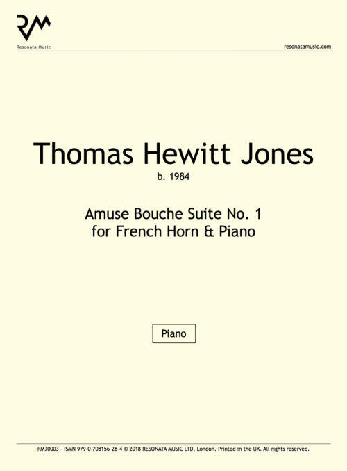 Hewitt Jones-Amuse Bouch Suite No. 1FH-Inner Cover