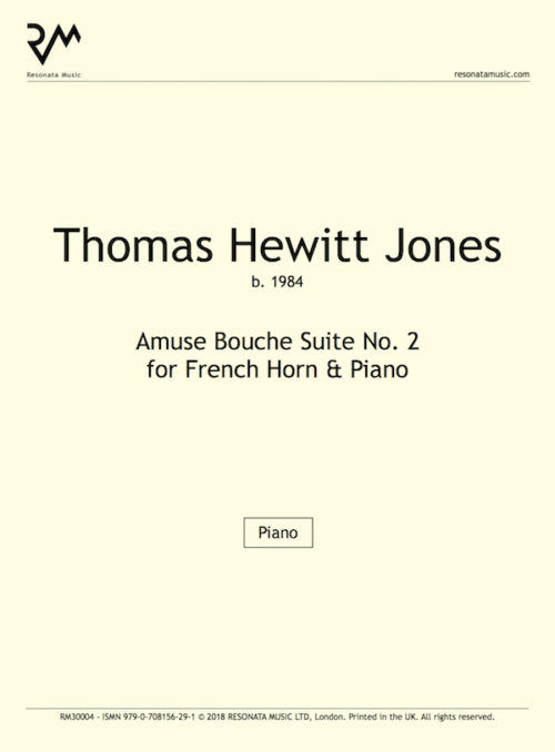 Hewitt Jones-Amuse Bouch Suite No. 2FH-Inner Cover