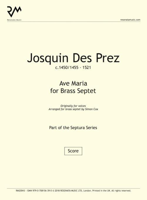 Josquin - Ave Maria inner cover