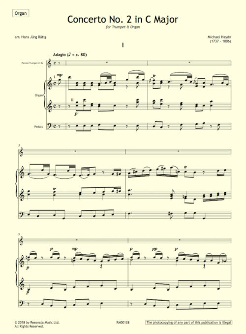 M Haydn first page
