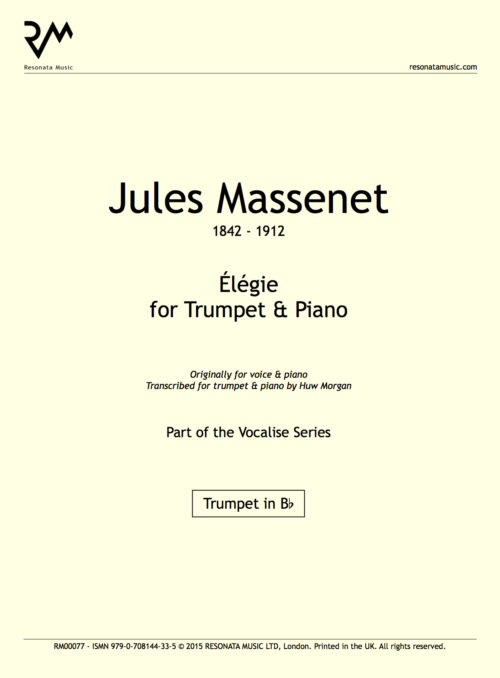 massenet l gie for trumpet piano resonata music. Black Bedroom Furniture Sets. Home Design Ideas